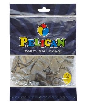 Купить Шарики Pelican 12' (30 см), пастель серебро 1250-842, 50шт/уп