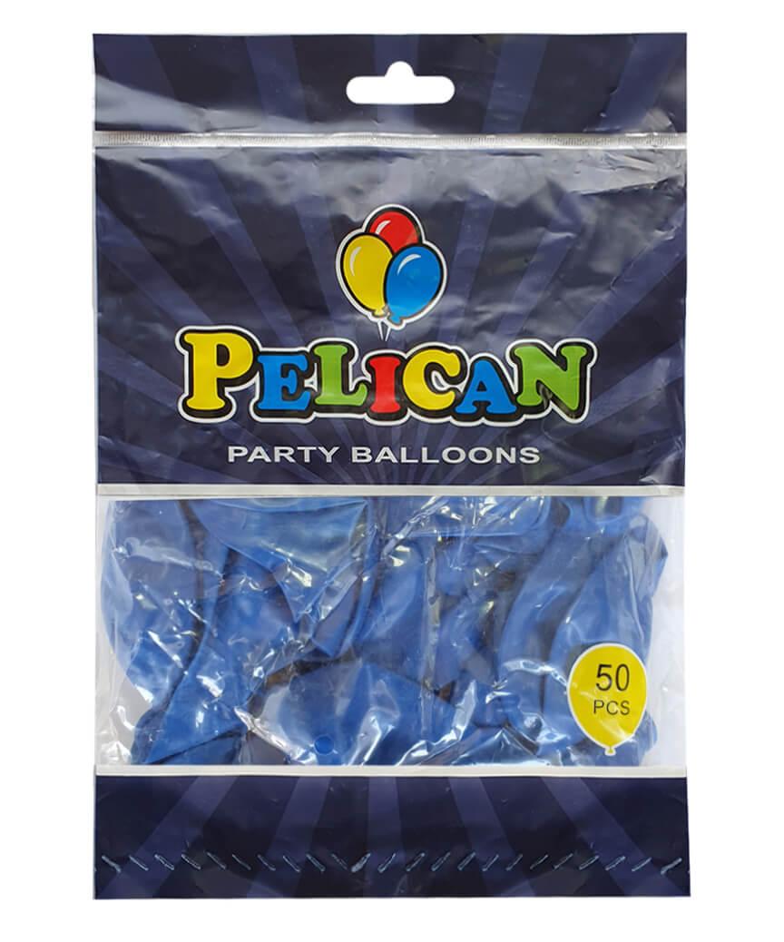 Шарики Pelican 12' (30 см), пастель синий 1250-843, 50шт/уп