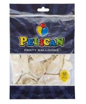 Купить Шарики Pelican 12' (30 см), пастель белый 1250-844, 50шт/уп