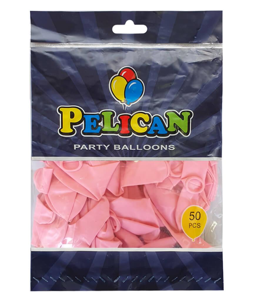 Шарики Pelican 12' (30 см), пастель розовый светлый 1250-845, 50шт/уп