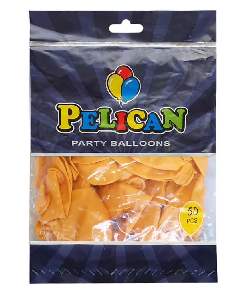 Шарики Pelican 12' (30 см), пастель желтый горчичный 1250-849, 50шт/уп