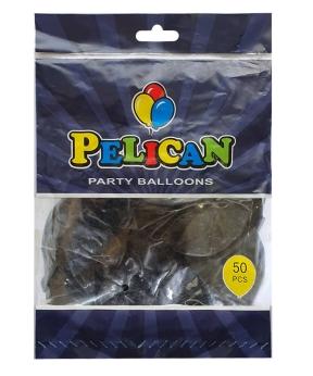 Купить Шарики Pelican 12' (30 см), пастель черный 1250-851, 50шт/уп