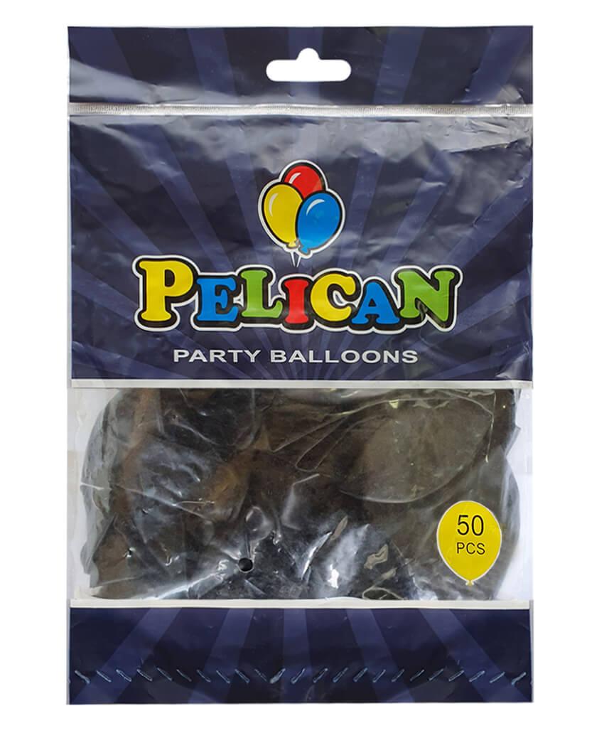 Шарики Pelican 12' (30 см), пастель черный 1250-851, 50шт/уп