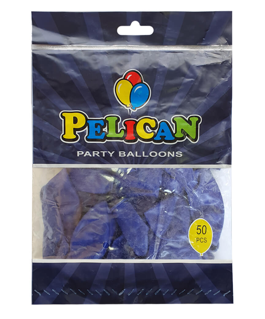 Шарики Pelican 12' (30 см), пастель синий темный 1250-852, 50шт/уп