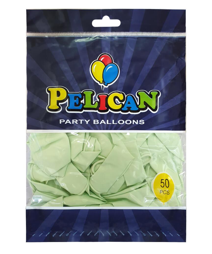 Шарики Pelican 12' (30 см), макарун зеленый 1250-931, 50шт/уп