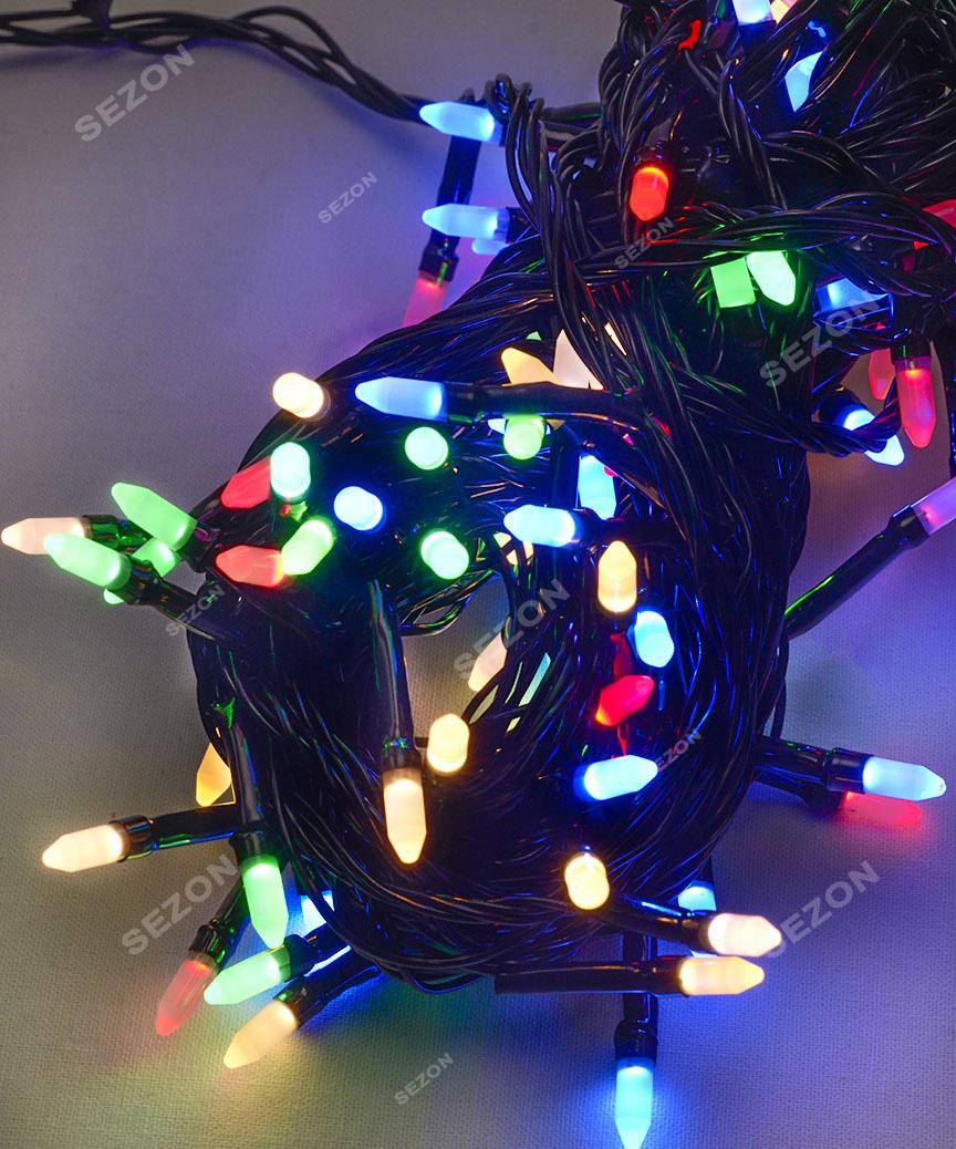 РИС 100 LED, чорний провід,   мульті