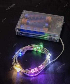 Купить Роса на батарейках 30 LED, 3м, мульті