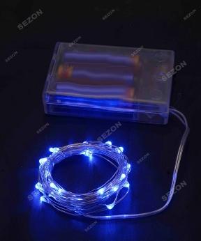 Купить Роса на батарейках 30 LED, 3м, синій