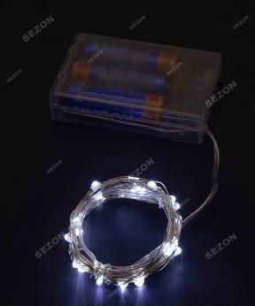Купить Роса на батарейках 30 LED, 3м, білий