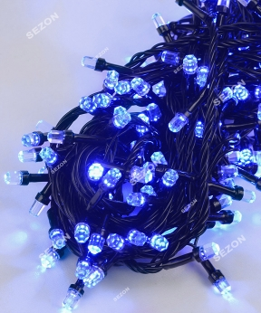 Купить РУБІН 500 LED, чорний провід, 28м, синій