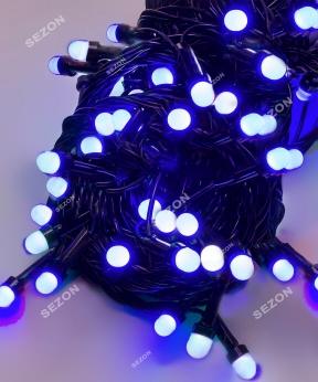 Купить ЛІНЗА  8мм   200 LED, чорний провід, синій
