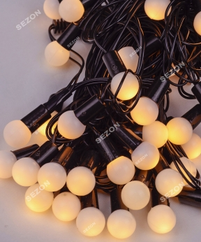 Купить Кульки  18мм 40 LED, 7м+ перехідник, теплий білий