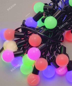 Купить Кульки  18мм 40 LED, 7м+ перехідник,  мульті