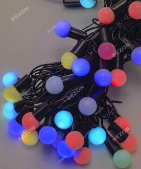 Купить Кульки  18мм 40 LED, 7м+ перехідник   7-ми колірна/RGB