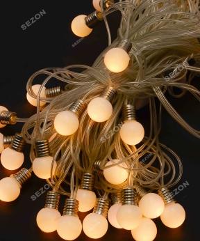 Купить ЛАМПОЧКИ 18мм 20 LED, 7м+ перехідник,   теплий білий