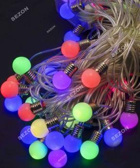 Купить ЛАМПОЧКИ 18мм 20 LED, 7м+ перехідник,  мульті
