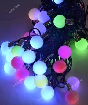 Купить ЛАМПОЧКИ 25мм 30 LED,  7м+ перехідник,   мульті