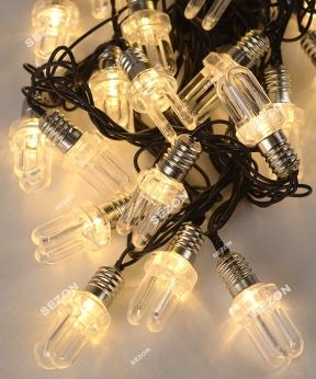 Купить ЛАМПОЧКА-ДУГА   20 LED, 7м,   білий теплий