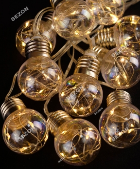 Купить ЛАМПОЧКИ-РОСА 50мм, 10шт, 100 LED, 3м, теплий білий