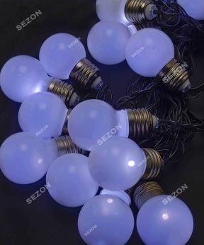 Купить ЛАМПОЧКИ 50мм матові, 20 LED, 7м,   білий