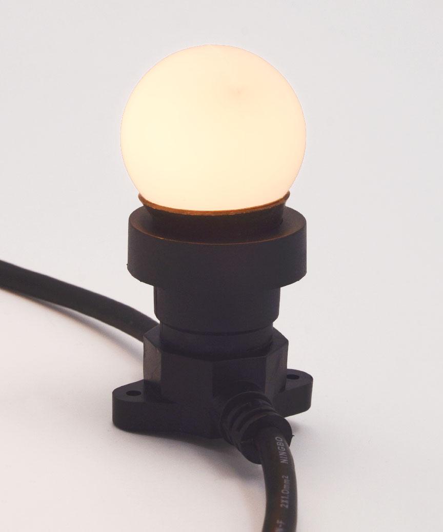 Лампочка LED 3W E-27 біла-тепла