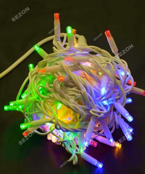 Купить Вулична 100 LED,  10м,  білий каучук 3,3мм, кольорова