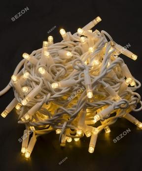 Купить Вулична 100 LED,  10м,  білий каучук 3,3мм, білий теплий