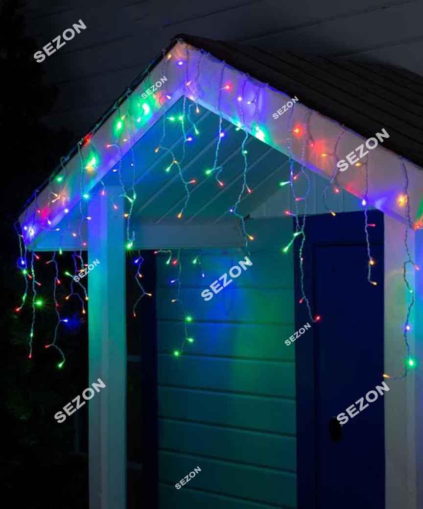 Бахрома 80 LED 2м*0.5м, мульті