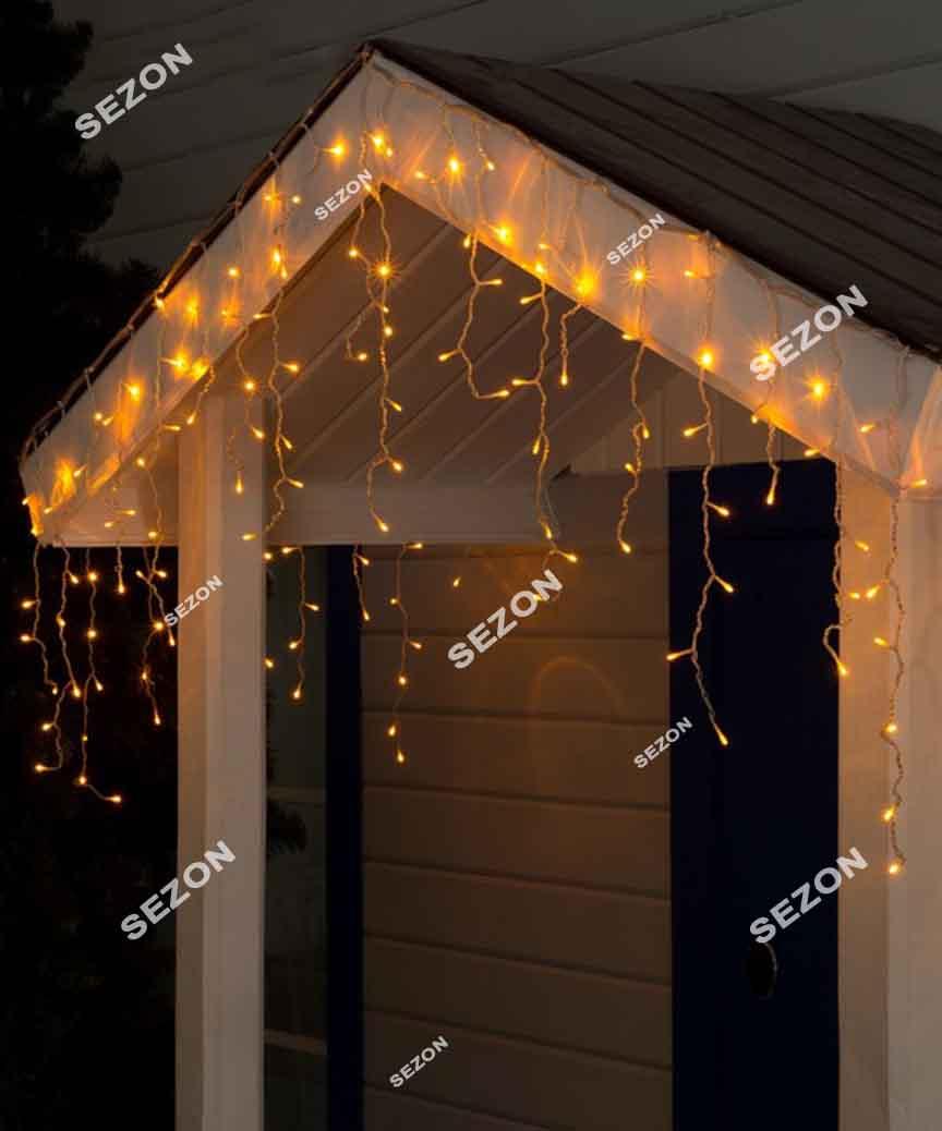 Бахрома 200 LED 5м*0.5м, білий теплий