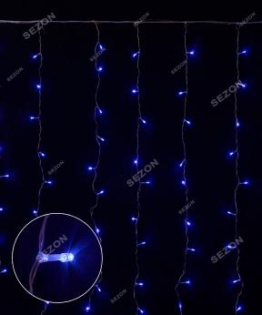 Купить Штора 120 LED  1.8м*1.2м, синій