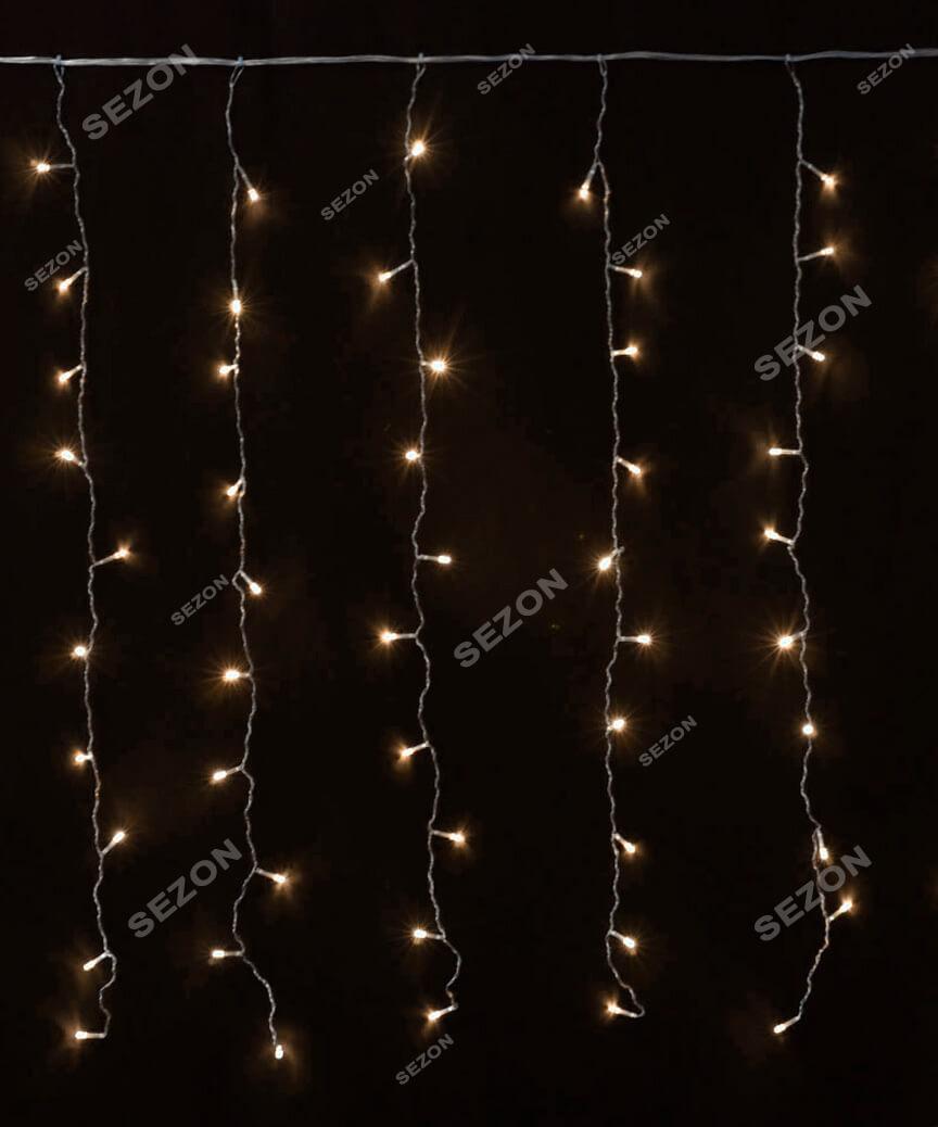 Штора 120 LED   1.5м*1.2м, білий теплий