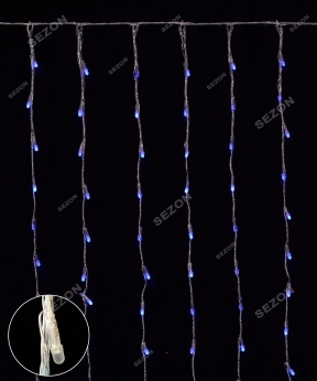 Купить Водоспад- лінза 8мм  240 LED 2м*2м, синій
