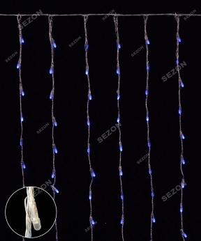 Купить Водоспад- лінза 8мм  320 LED 3м*2м, синій