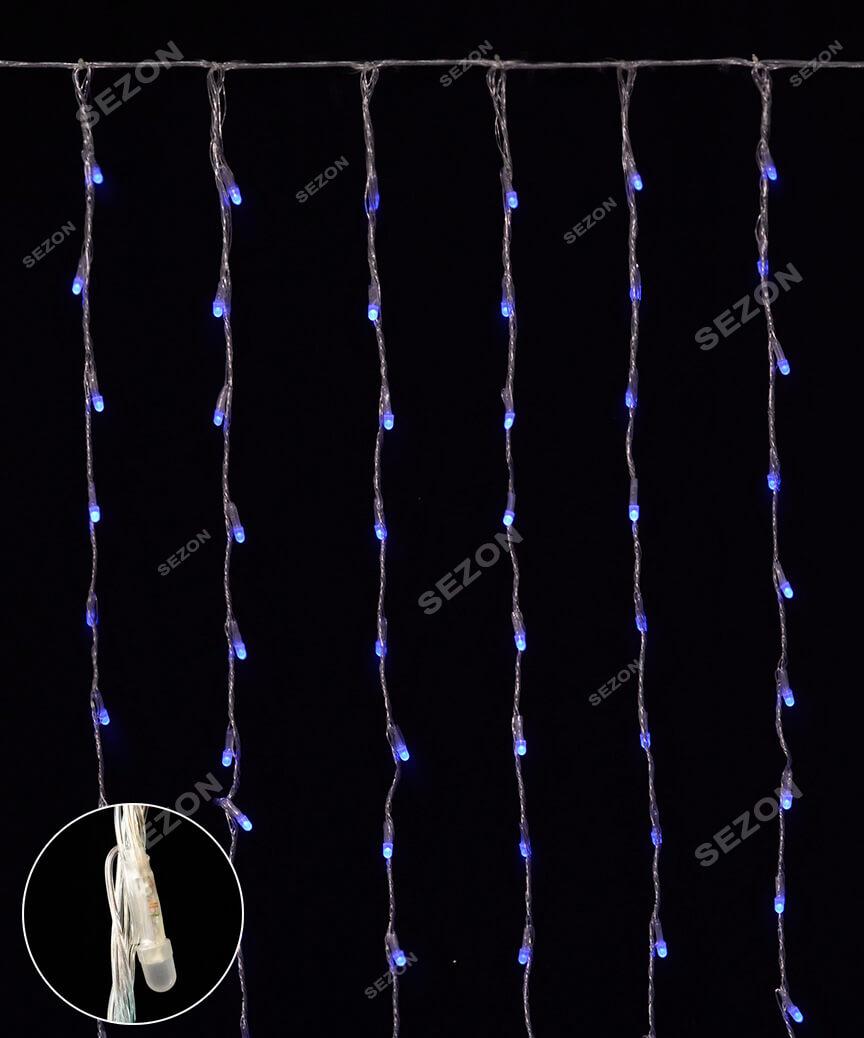 Водоспад- лінза 8мм  400 LED 3м*2м, синій