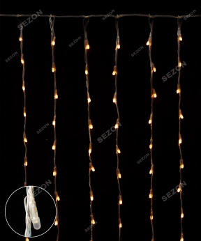 Купить Водоспад- лінза 8мм 400 LED 3m*2m теплий-білий