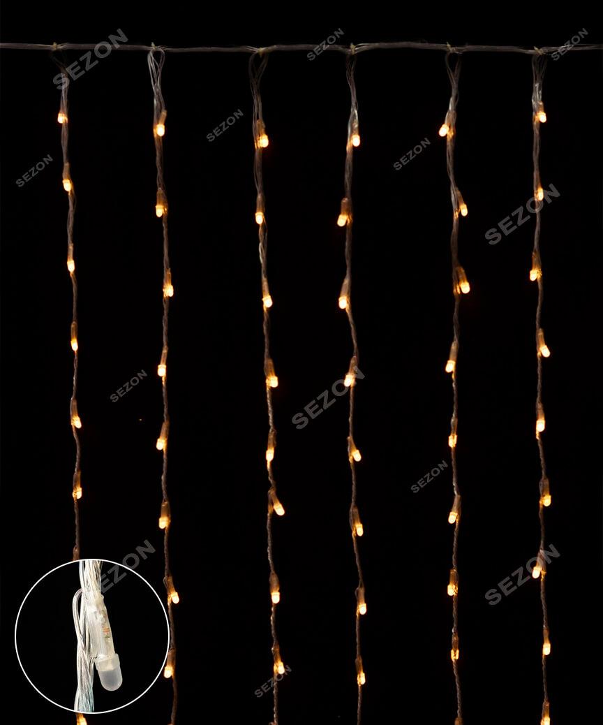 Водоспад- лінза 8мм 400 LED 3m*2m теплий-білий