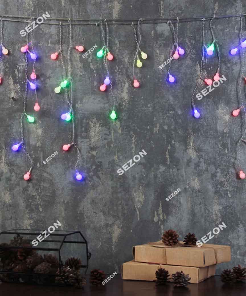 Штора-КУЛЬКИ,  80 LED 3м*0.8м, мульті  RB/RG