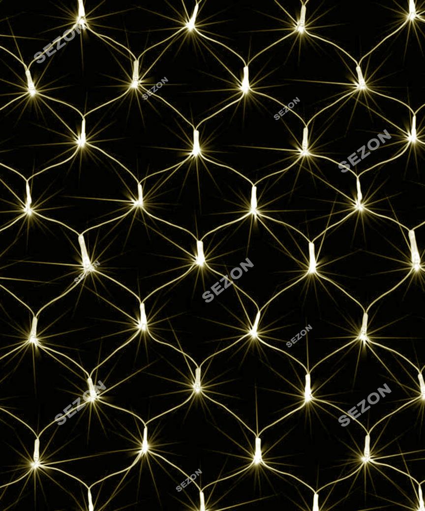 Сетка 160 LED 2м*1,5м, белый теплый