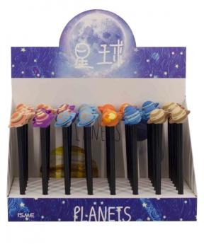 Купить Ручка гелевая, синяя (планеты) 1604060