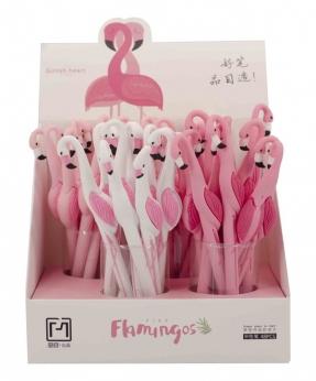 Купить Ручка гелевая синяя 17067  фламинго