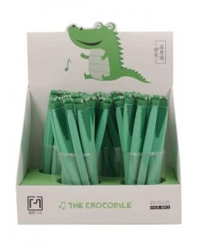 Купить Ручка гелевая, синяя 17078 крокодил