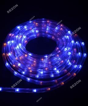 Купить Дюралайт 3-жильн круглий LED 8м, жовто-синій