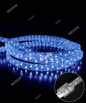 Купить КВАДРАТНИЙ дюралайт 3-жильн  LED 10м синій