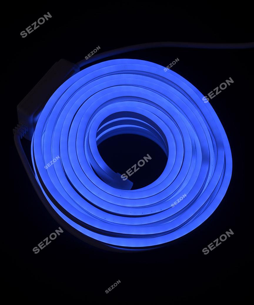 ГНУЧКИЙ НЕОН  8м, 2-х сторонній, синій