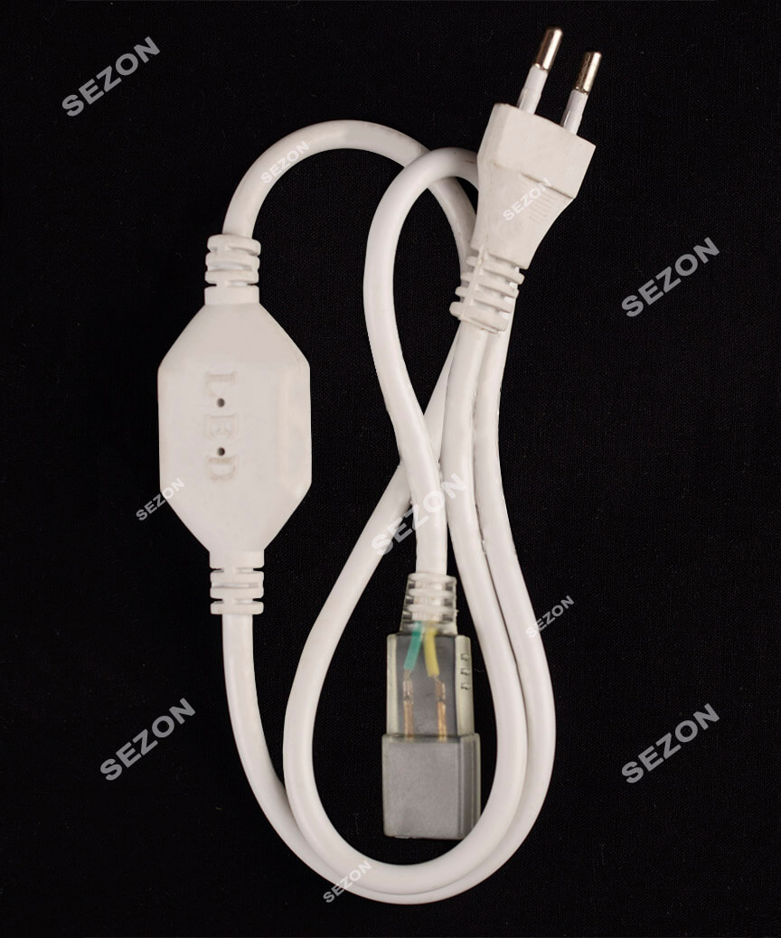 Мережевий шнур для  неону,  просто світить 50м  174001