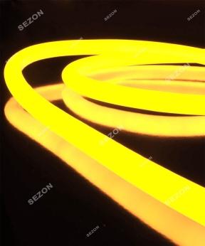 Купить ГНУЧКИЙ НЕОН  20м, 1-но сторонній, жовтий