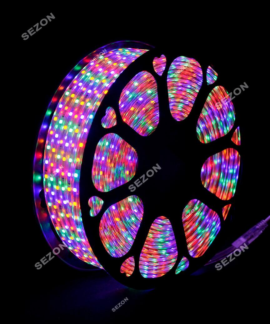 БУХТА 3-жильн. круглий LED 80 м (кольоров)