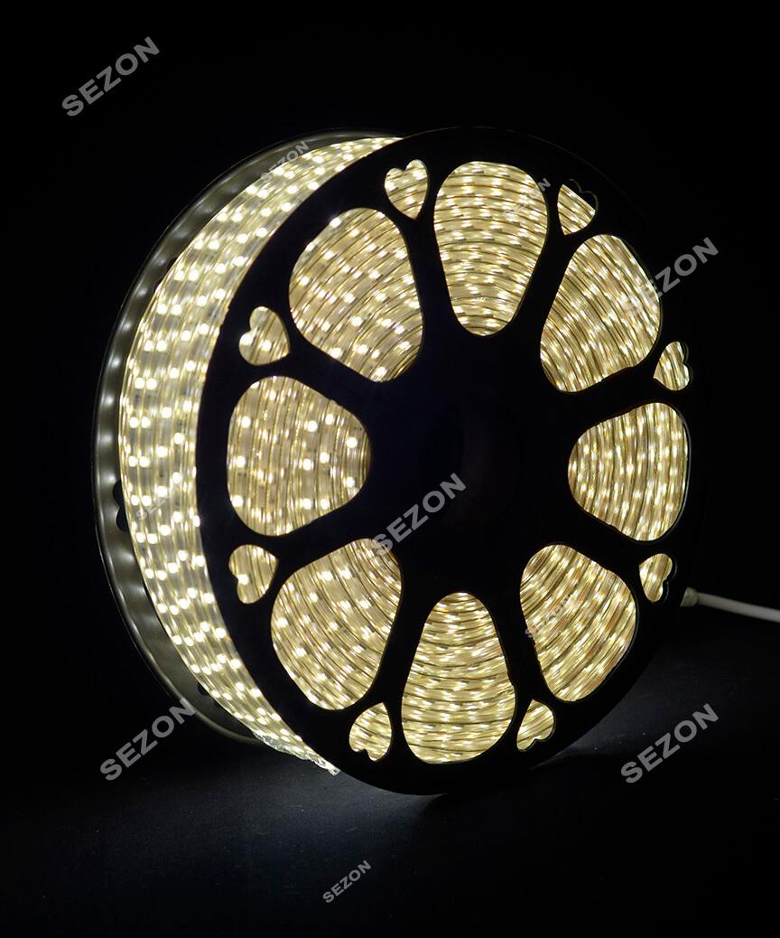 БУХТА 3-жильн. круглий LED 80 м, білий, шт
