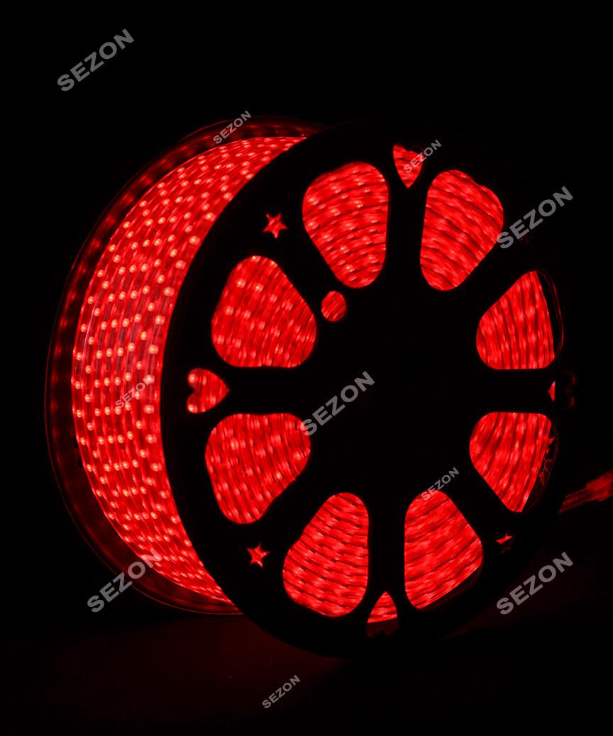 LED стрічка 5050, 100м, червоний