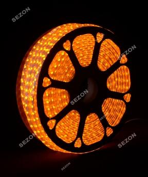 Купить БУХТА 3-жильн. круглий LED 80 м, жовтий, шт